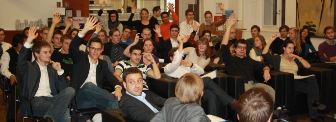 Wöchentliche Debatte in der Wiener Hofburg