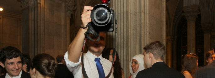 VIMUN Photographer Herbert Gmoser at a Reception in the City Hall