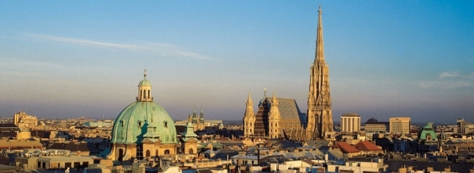 Old Vienna Skyline with the Gothic St. Stephen's Cathedral