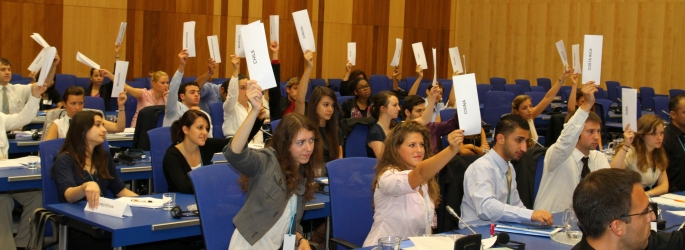 VIMUN Delegates Representing Country Positions
