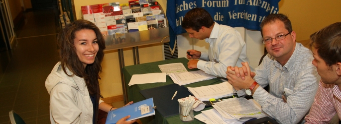 The Goal of Registration: Delegate at the VIMUN Welcome Table in Vienna