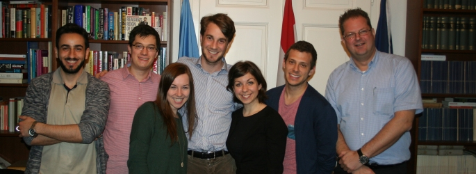 UNYSA-AUSTRIA-AFA President Michael F. PFEIFER (right) with VIMUN 2013 and 2014 Secretaries General and Team Members