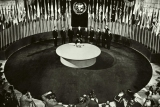 Signing the Charter of the UN